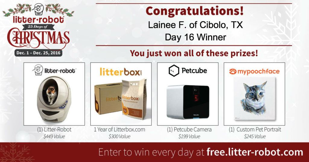 25 days of christmas giveaway Litter Robot