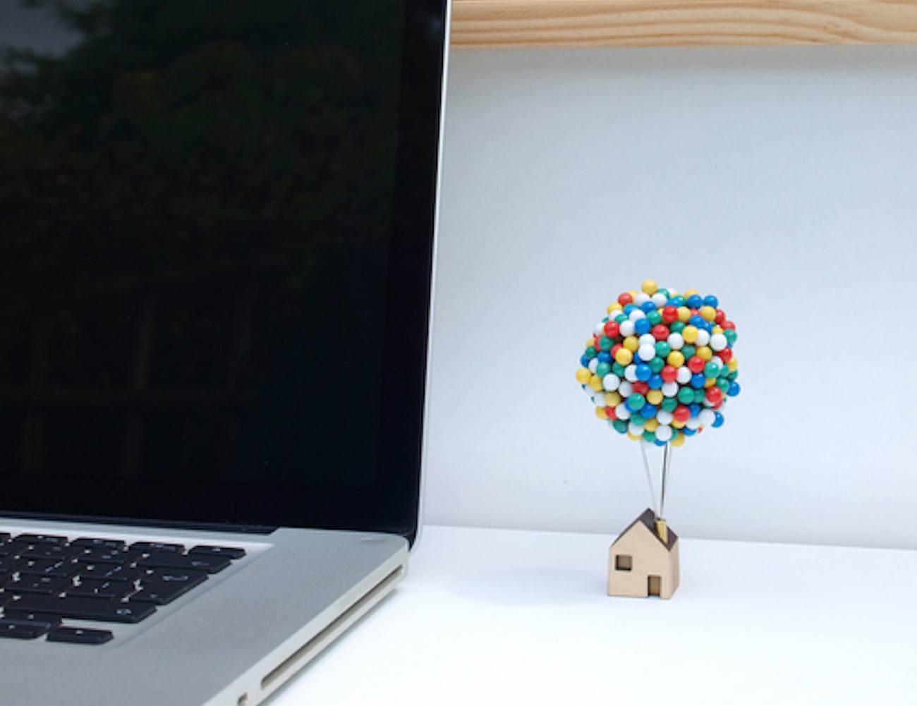 Balloon Pin House Pin Storage