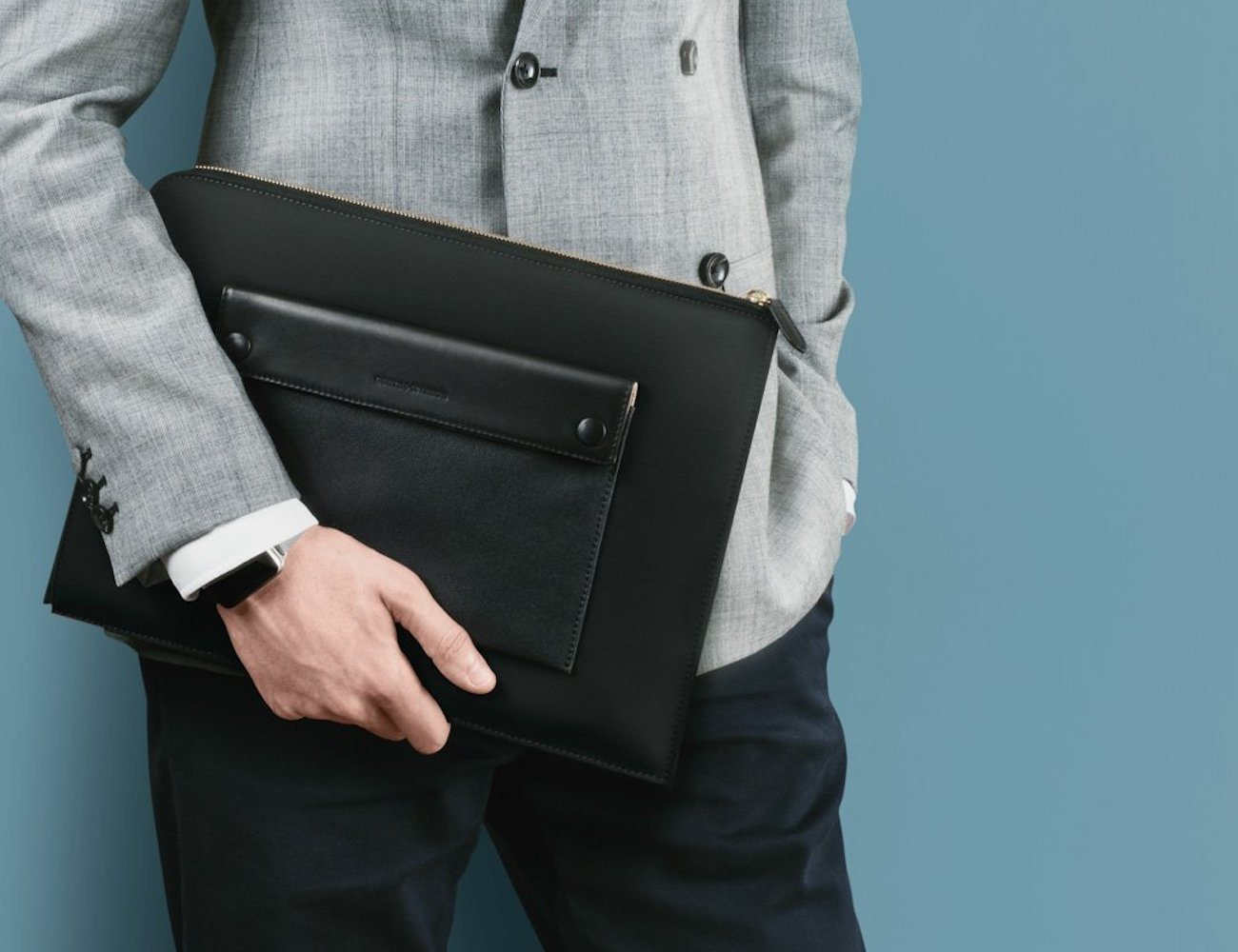 Black Laptop Attaché by North & Sparrow