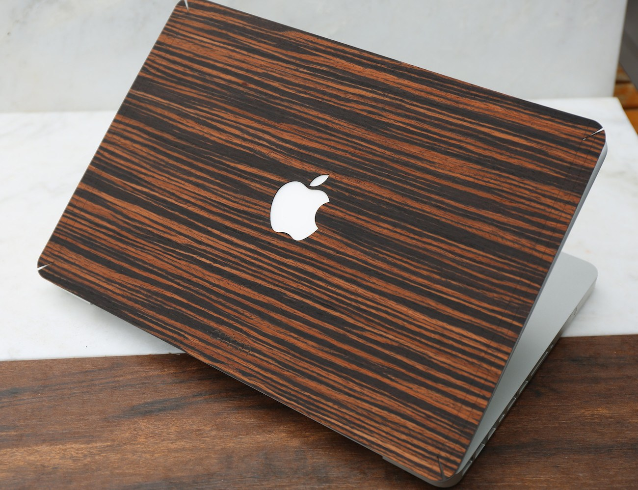 Ebony Wood MacBook Skin