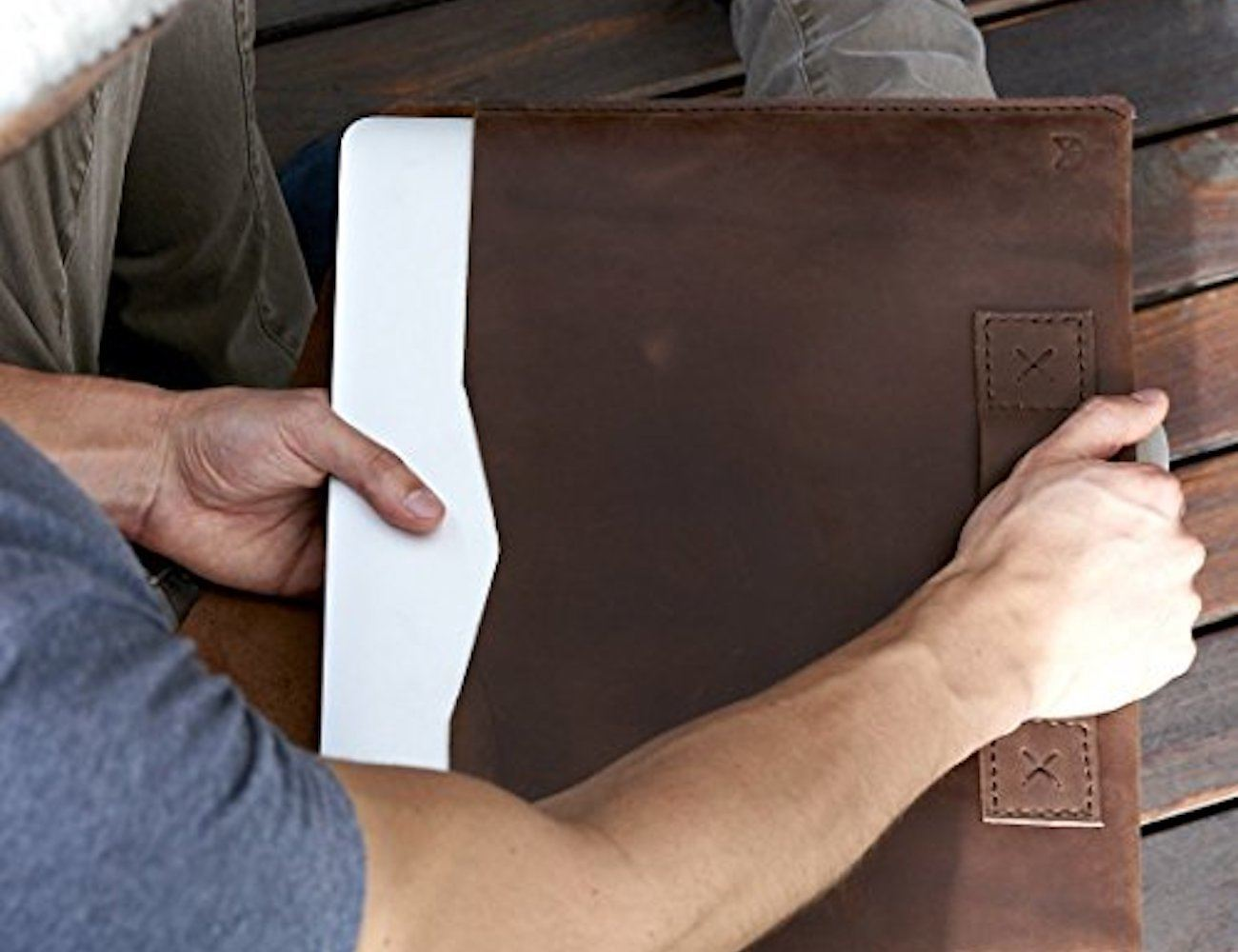 Leather MacBook Sleeve by Capra Leather