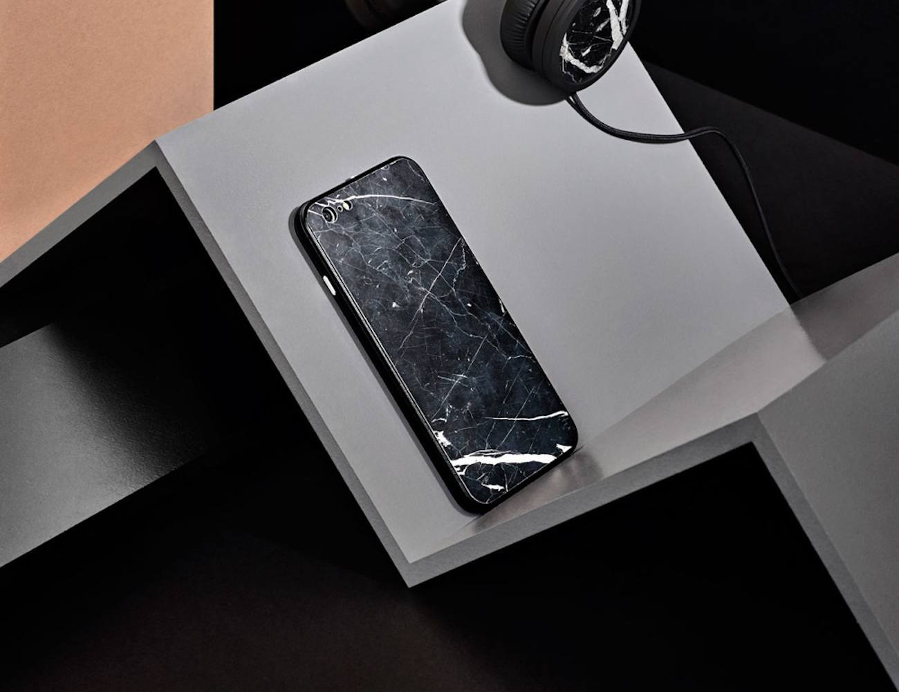 Nero Marquina Marble iPhone Case
