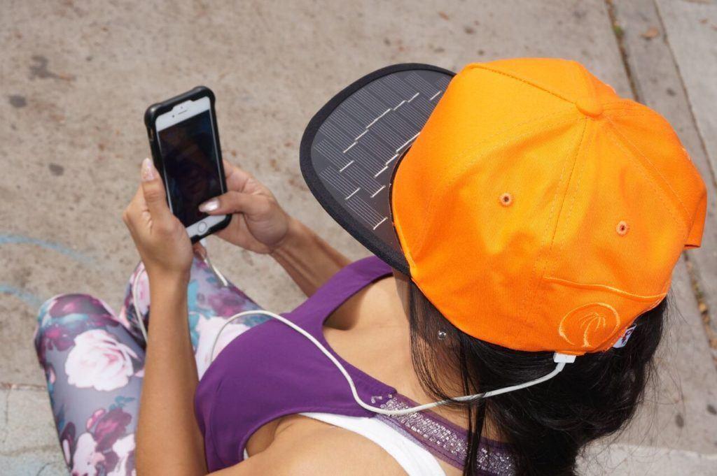 solar charging hat