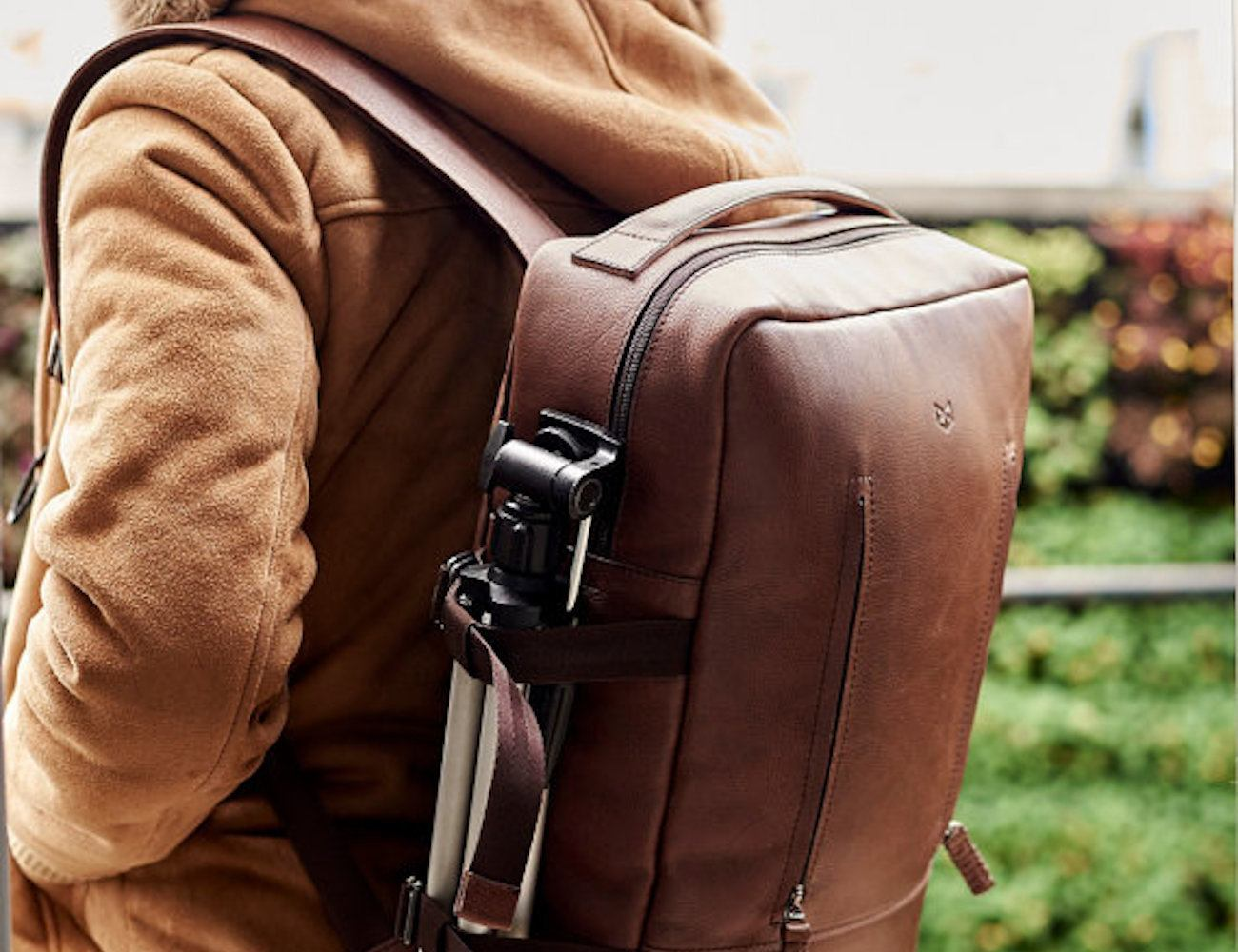 Tamarao Brown Leather Backpack