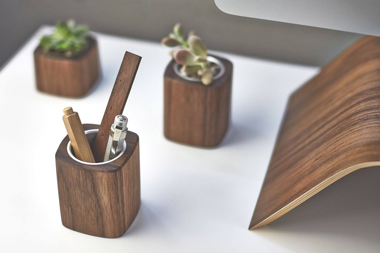 Walnut Pen Cup by Grovemade