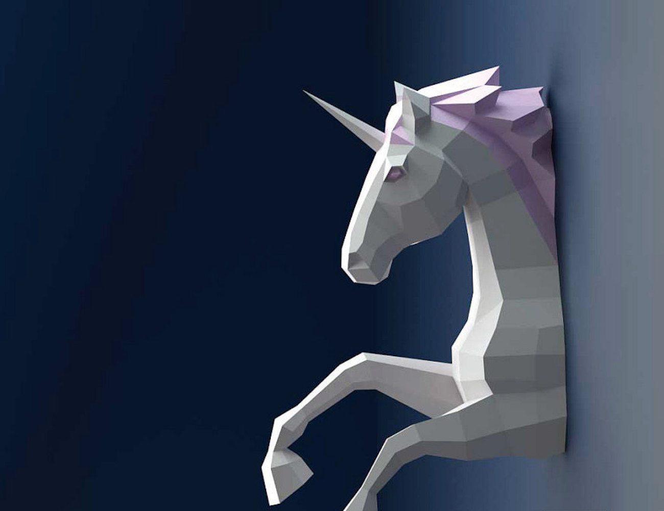 3D+Unicorn+Paper+Sculpture