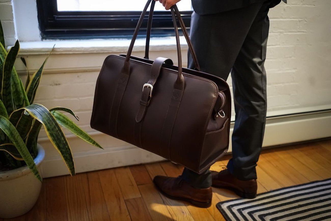 Acheson Leather Weekender Bag
