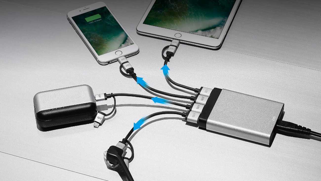 AluCharge Multi-Port USB Charger