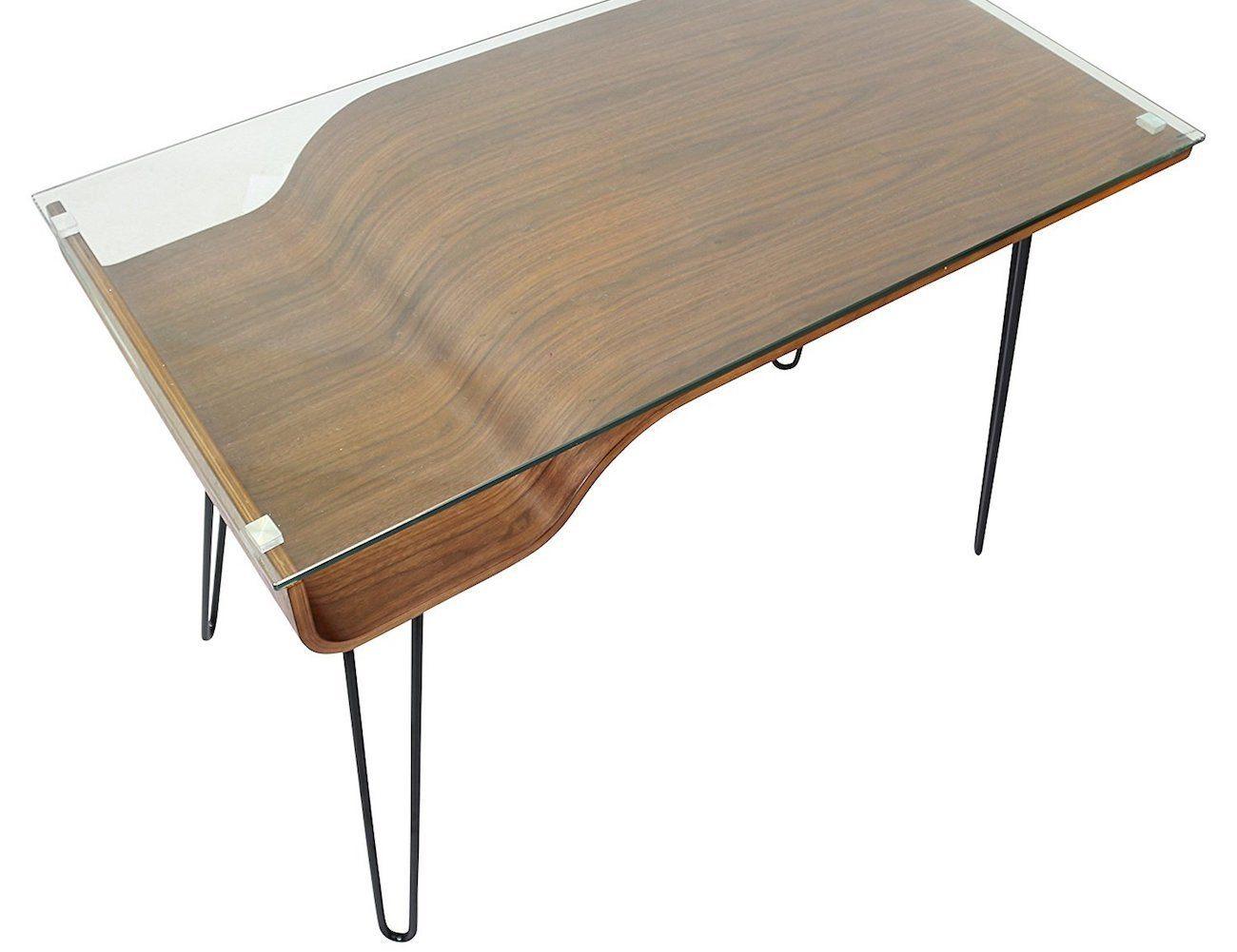 Avery Wood Storage Desk by LumiSource