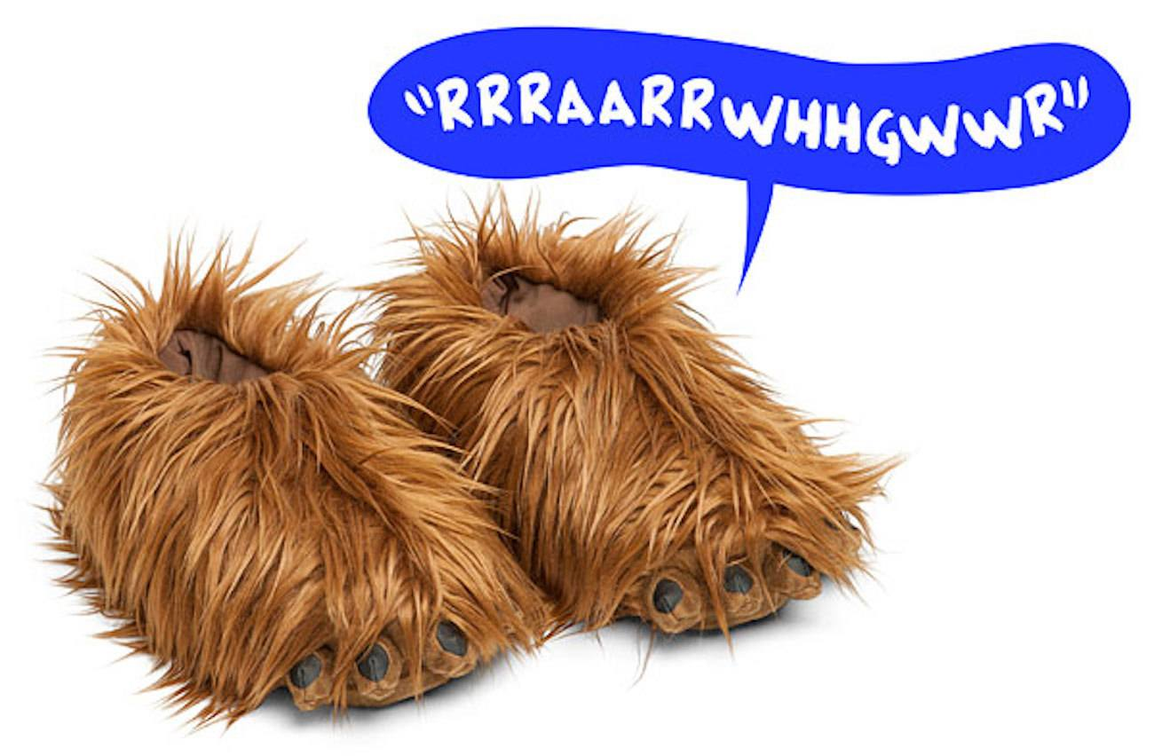 Chewbacca Slippers with Sound Effects