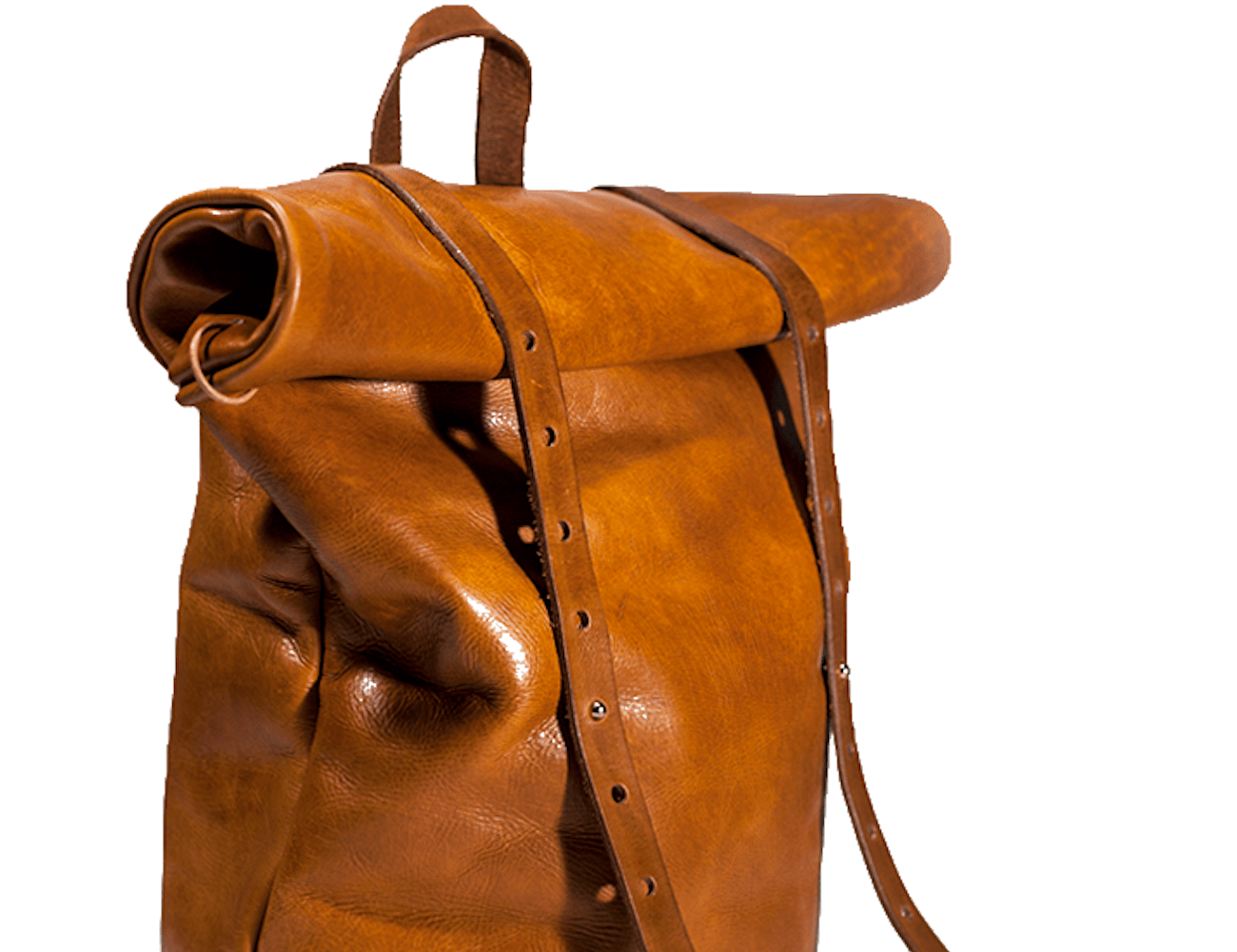 Concept One Rolltop Leather Rucksack