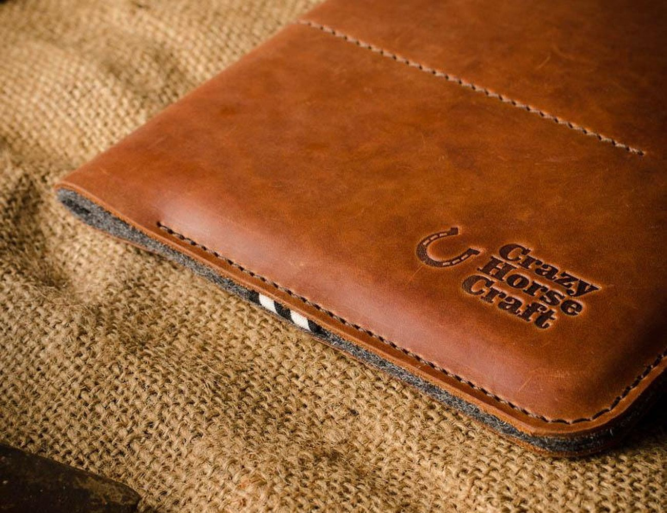 CrazyHorse Leather iPad Pro Sleeve
