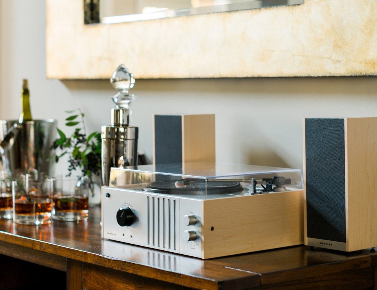 Crosley Player Turntable Shelf System
