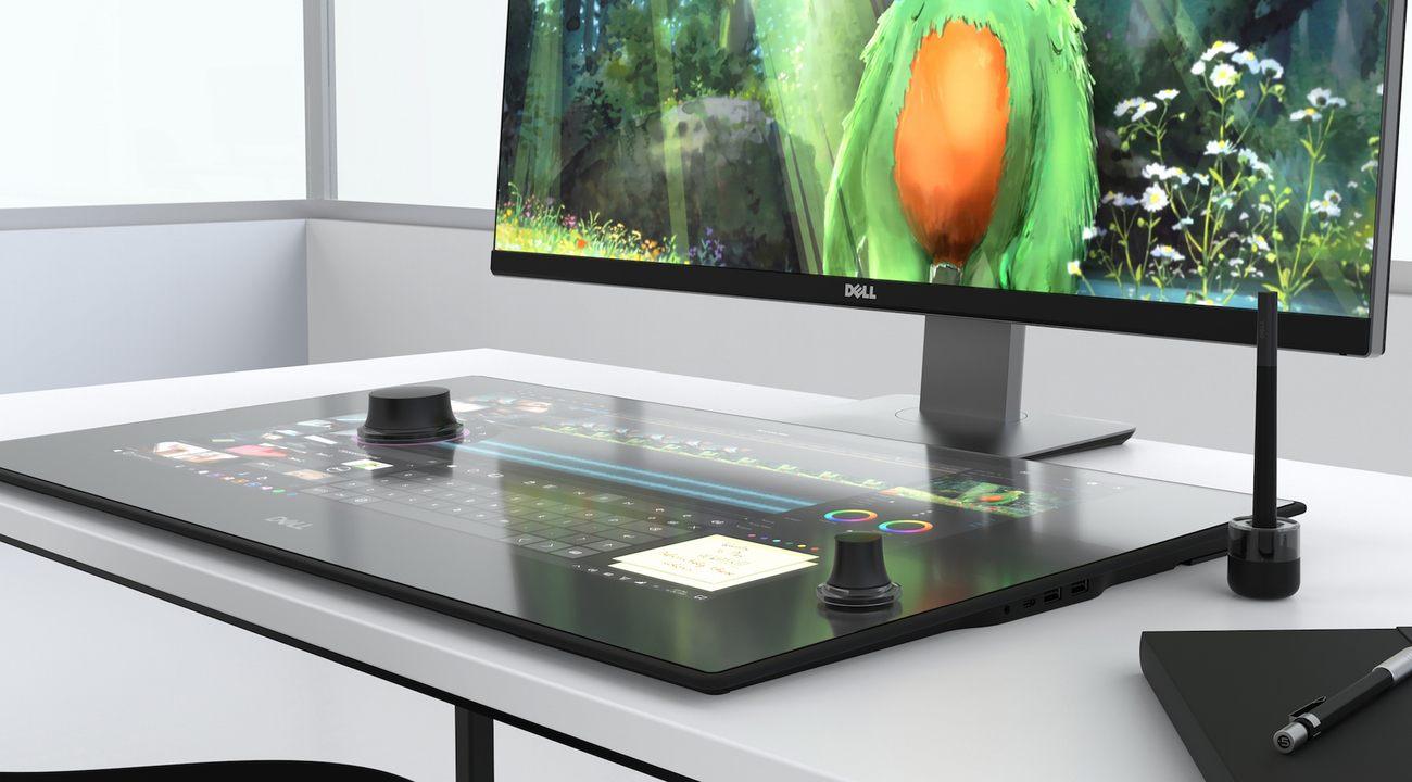 Desktop touchscreen