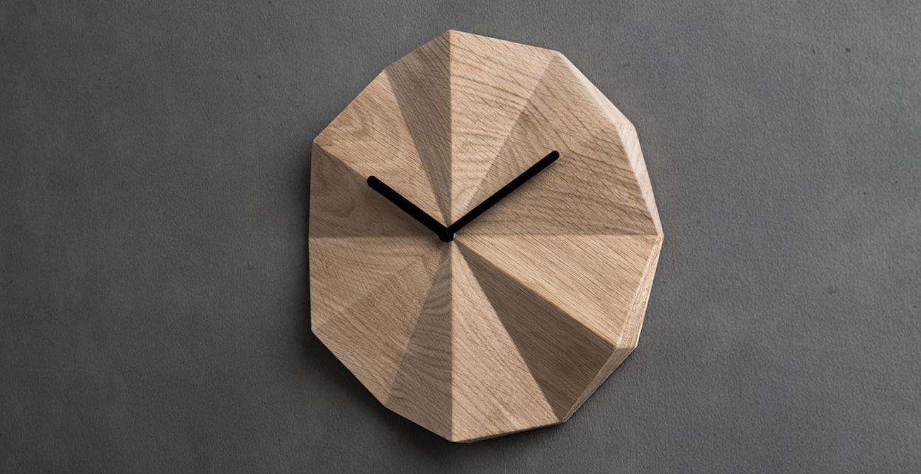 Delta Oak Clock by LAWA Design