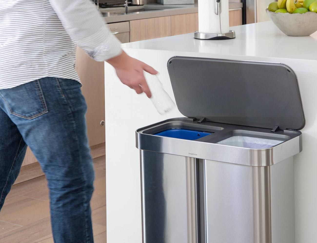Dual Compartment Trash Cans
