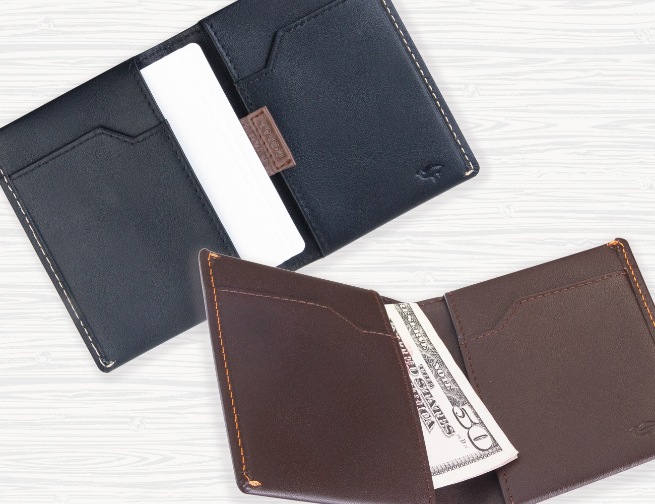 Ikepod Minimalist Leather Wallet