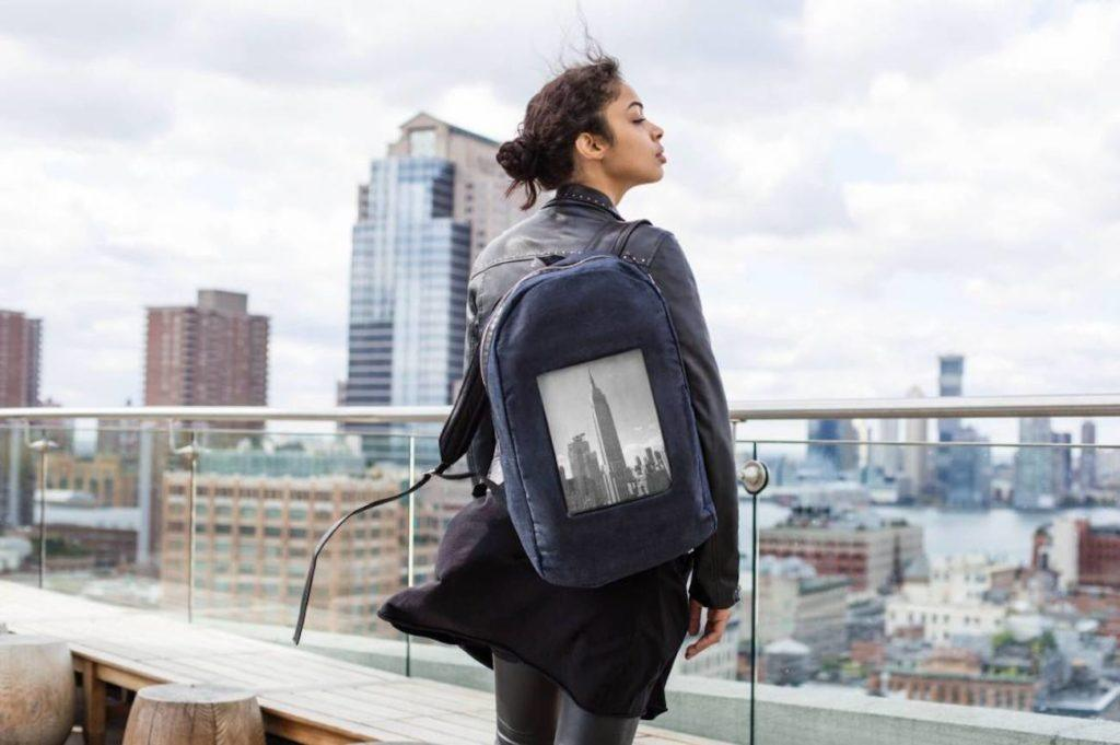 e-Paper Backpack with display