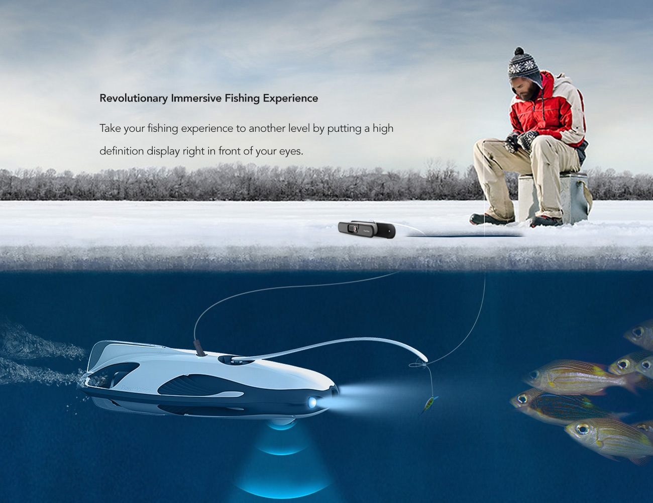 PowerRay Submersible Fishfinder