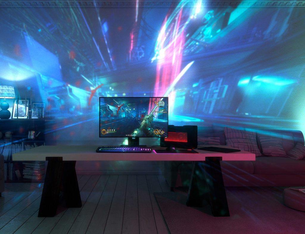 Welcome to the future of gaming immersion with theProject Ariana Video Projector by Razer.