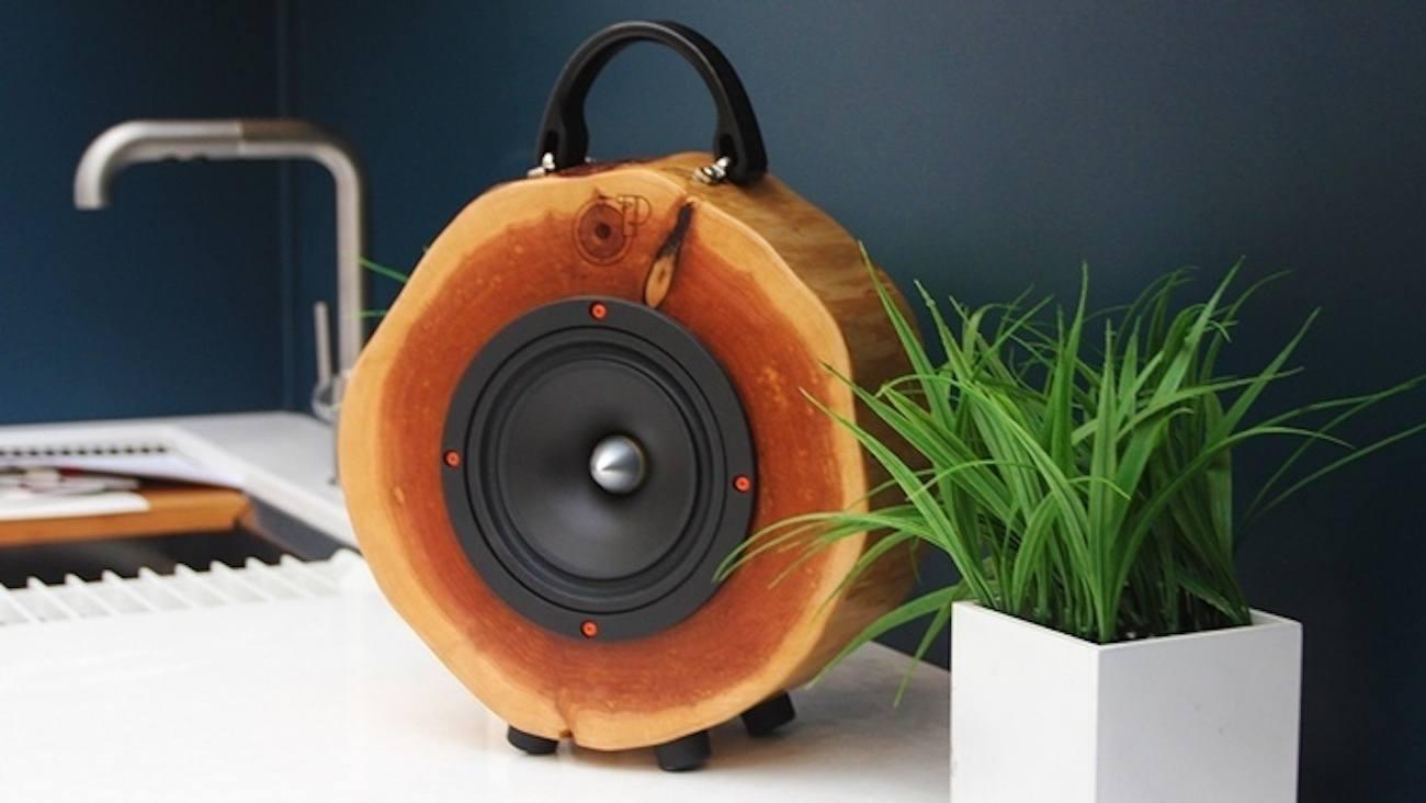 Rockit Logs Wood Log Speaker