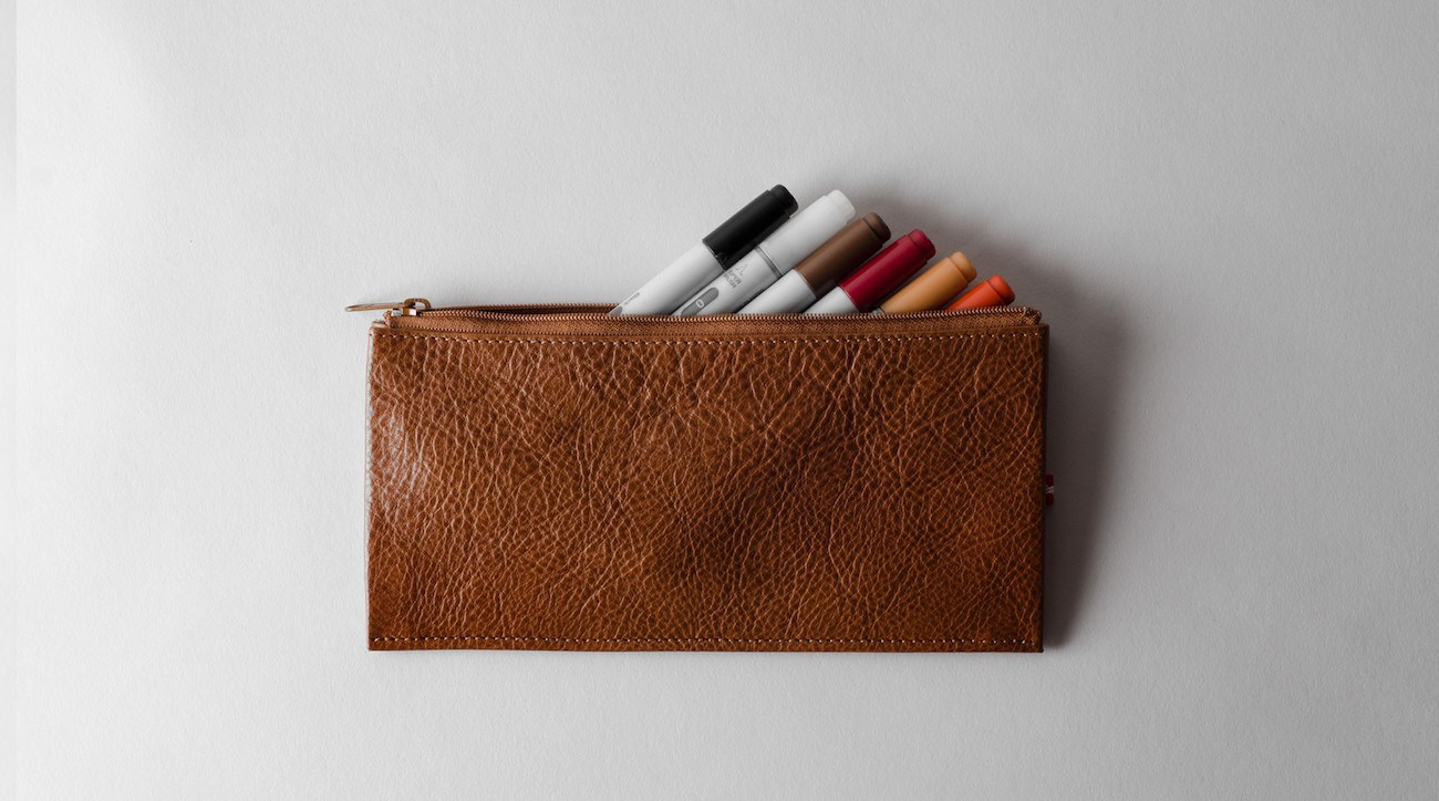 Trip Leather Pencil Case by Hard Graft