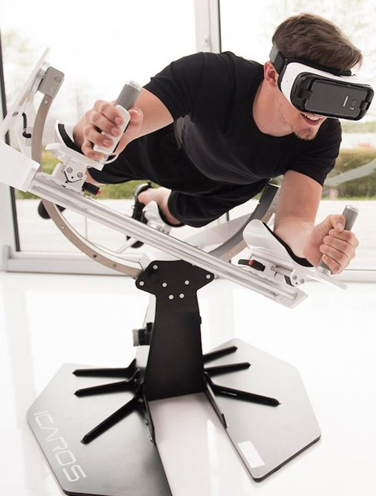 Icaros Full Body Workout Machine With VR Gadget Flow
