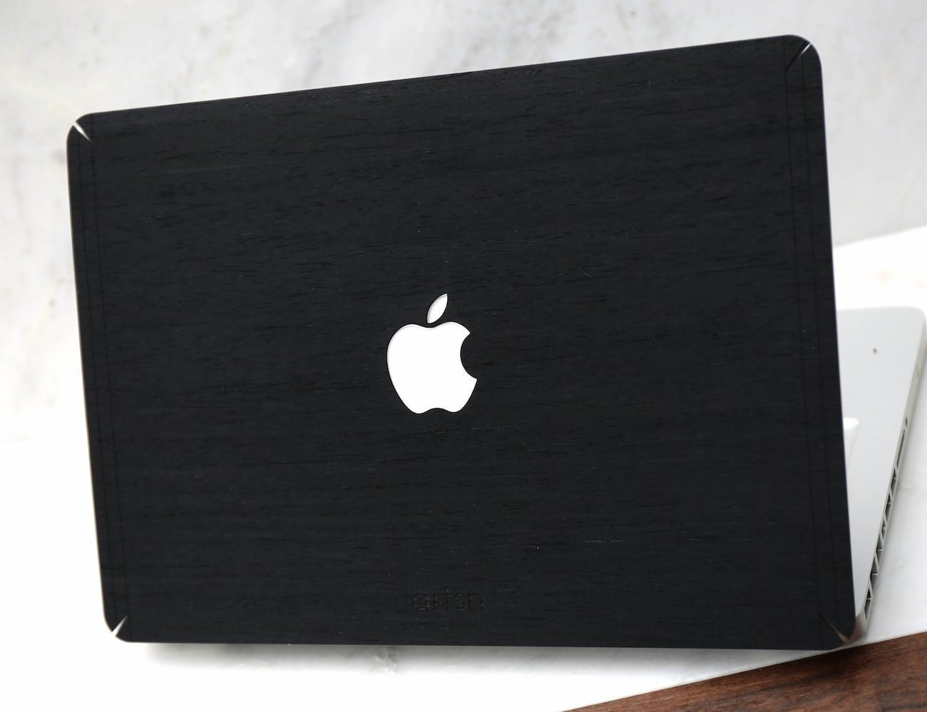 Black Ash Wood MacBook Skin by ARTSN