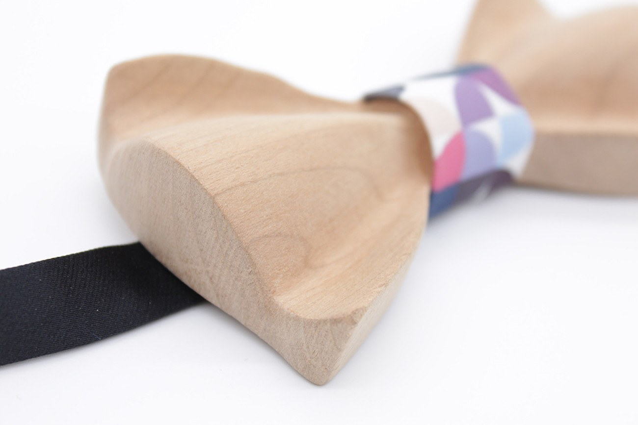 Colorful Wooden Bow Tie