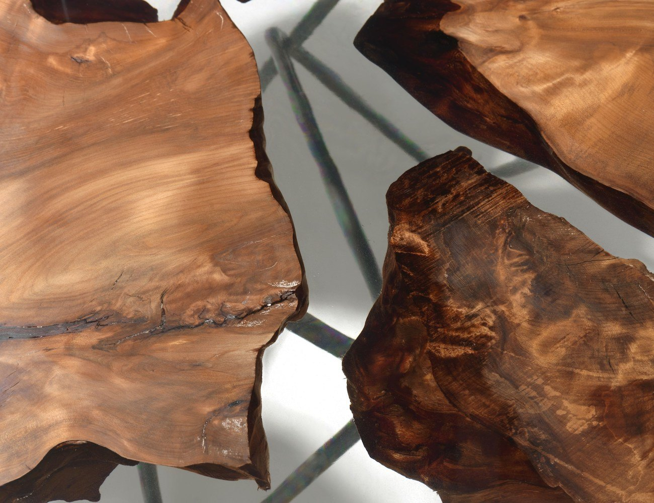 Earth Wood and Resin Table