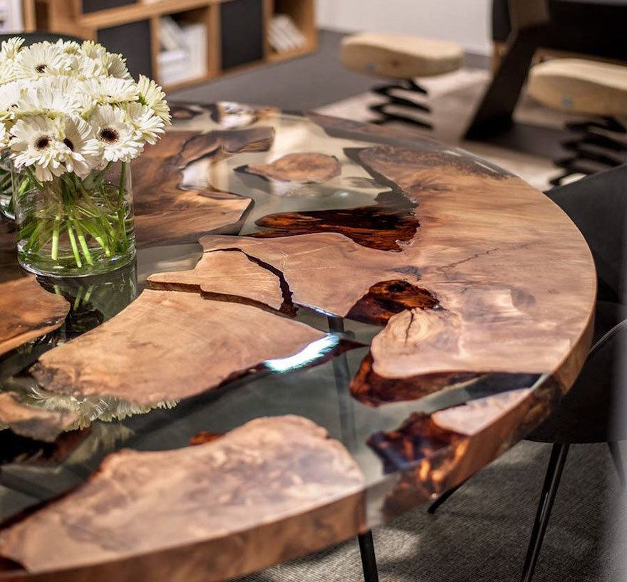 Earth Wood Resin Table Design By Renzo Amp Matteo Piano I