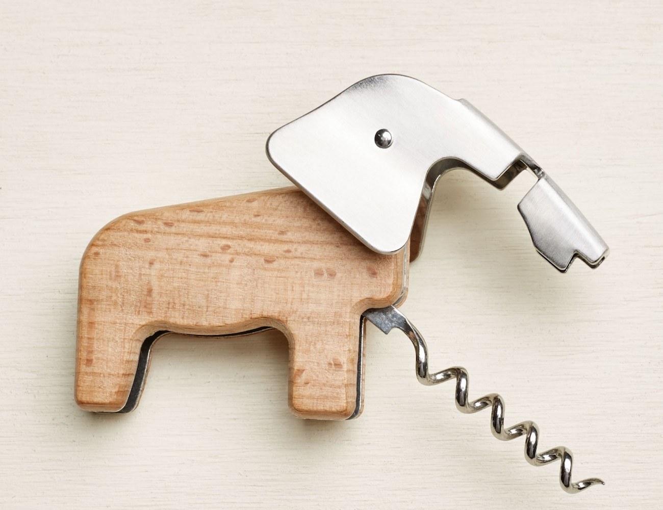 Elephant Corkscrew Bottle Opener