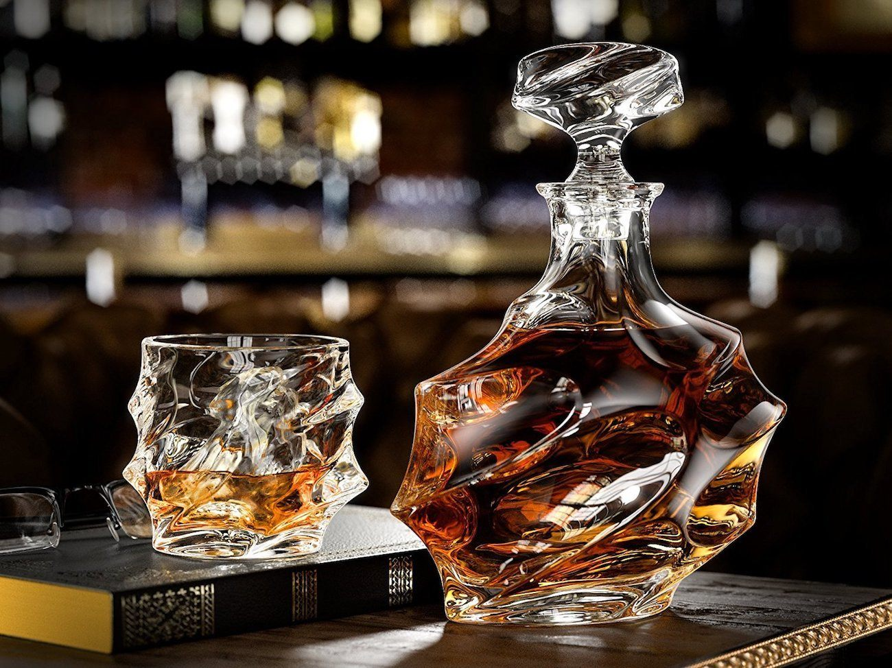 everest whiskey decanter set gadget flow. Black Bedroom Furniture Sets. Home Design Ideas
