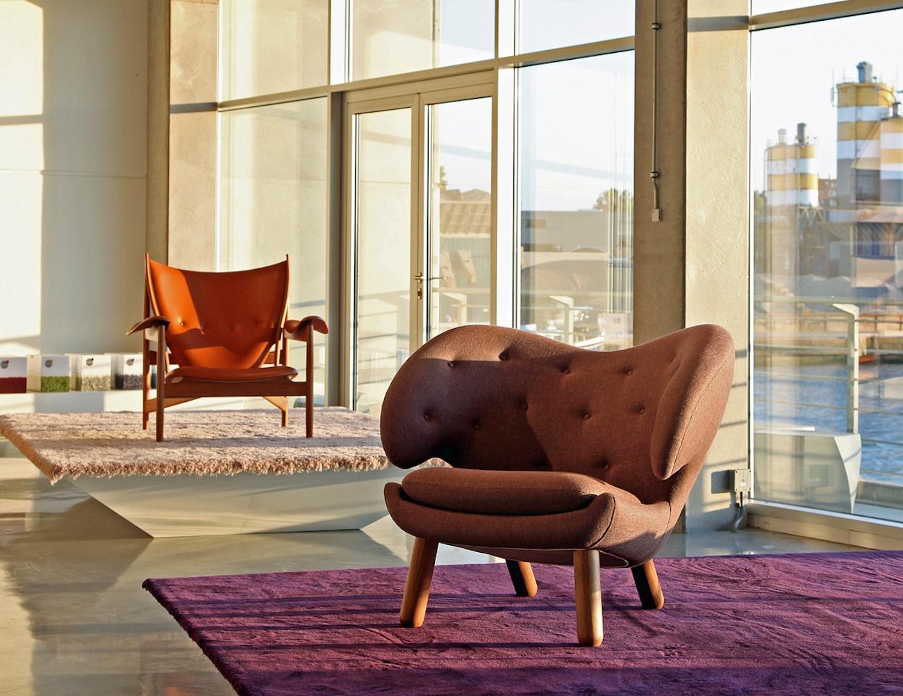 Finn Juhl Pelican Leather Chair