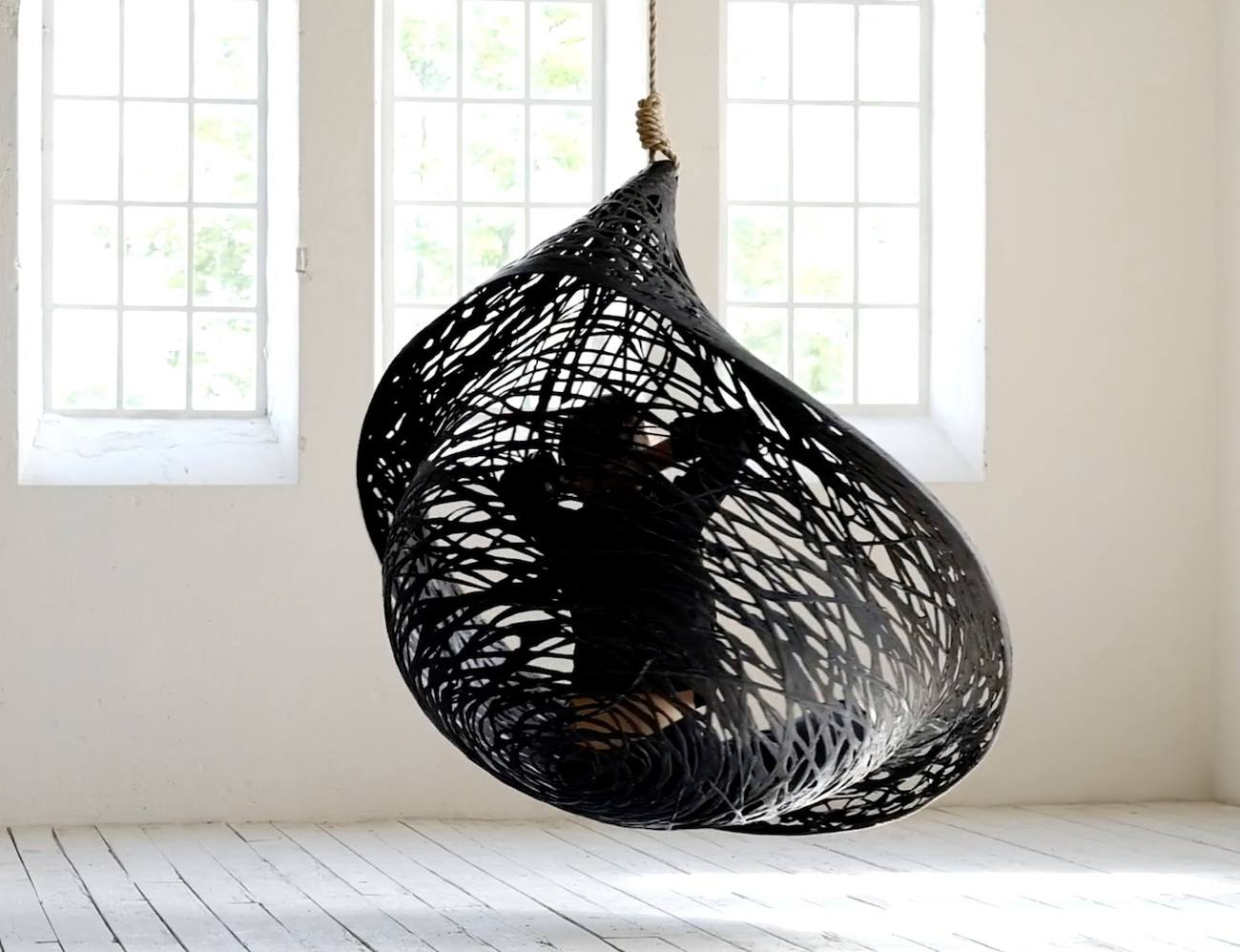 Ibis Volcanic Basalt Hanging Basket Chair