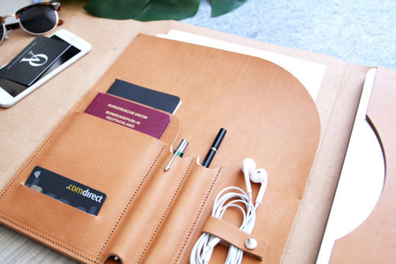 Leather MacBook Portfolio Cover