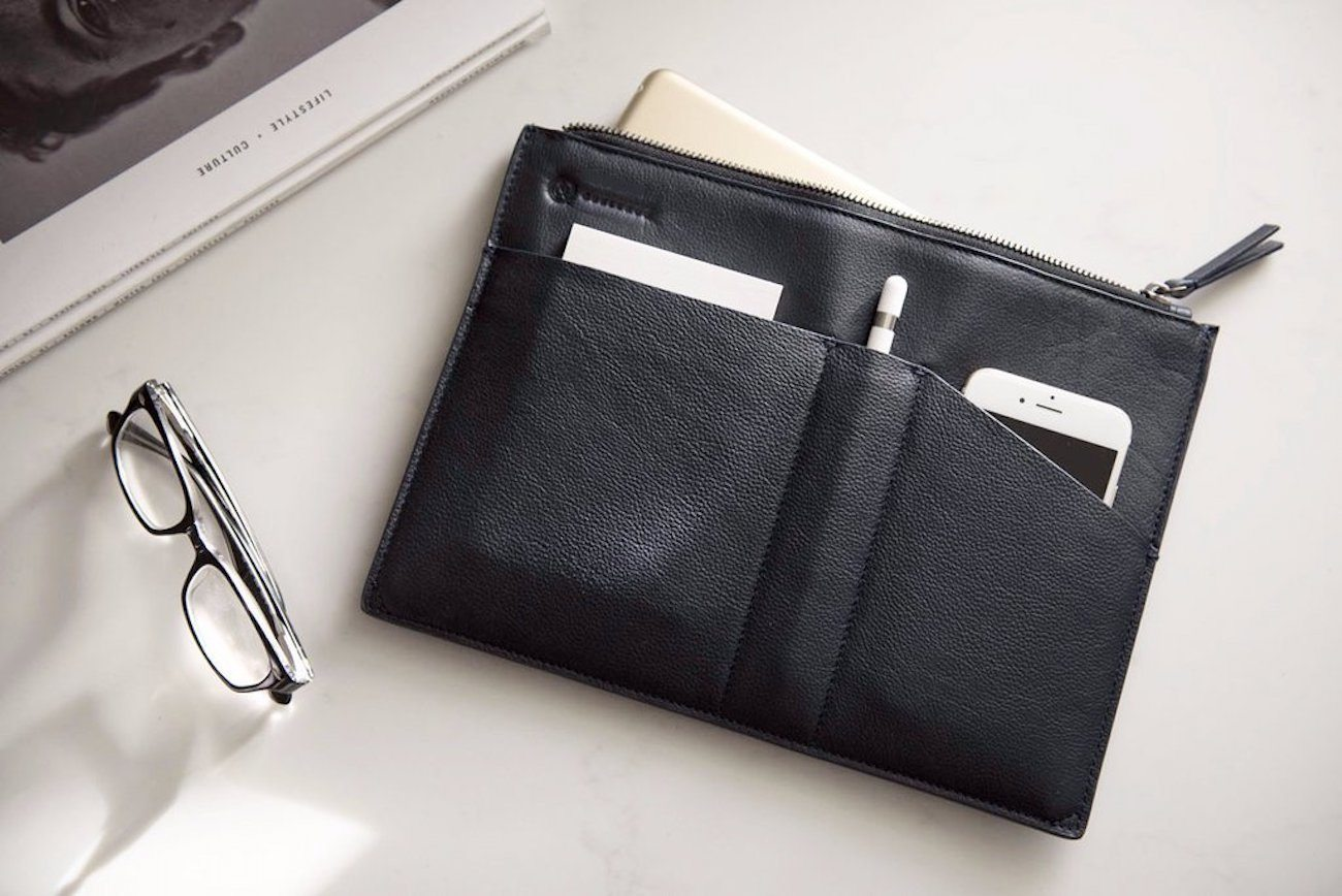 Leather MacBook Sleeve by Quell and Co loading=