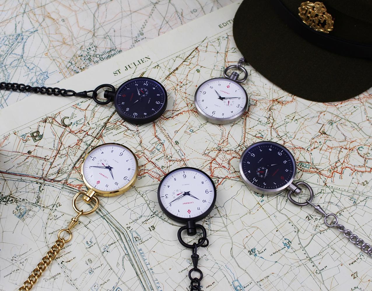 Lufbery WW1-Inspired Pocket Watches