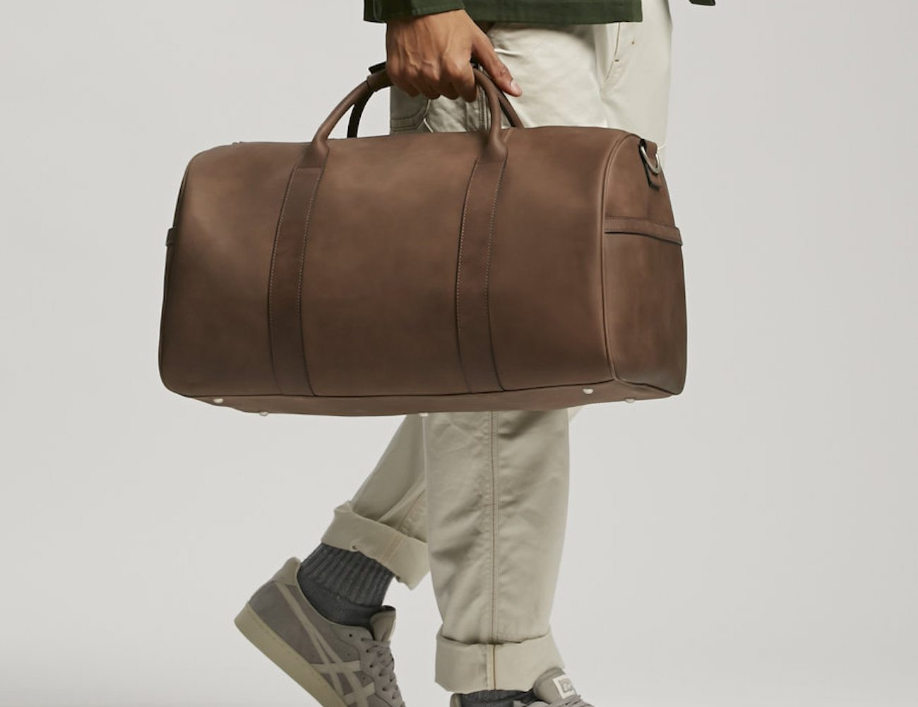 Luxury Leather Duffle Bag by JackThreads