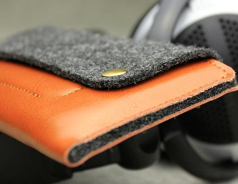 Leather and Wool Felt iPhone Case