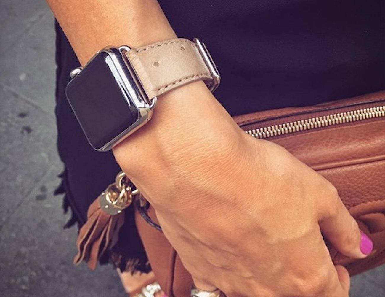 Meridio+Canvasback+Leather+Apple+Watch+Strap