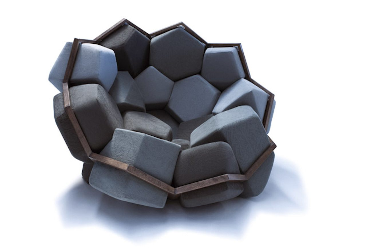 QUARTZ Wooden Geometric Chair