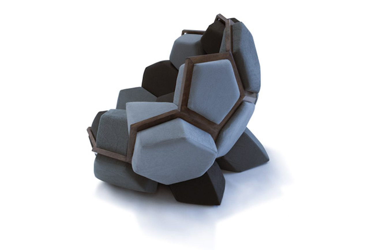 QUARTZ Wooden Geometric Chair