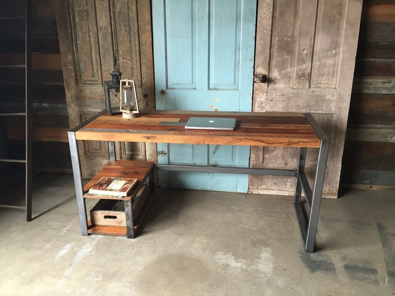 Reclaimed Wood Patchwork Desk