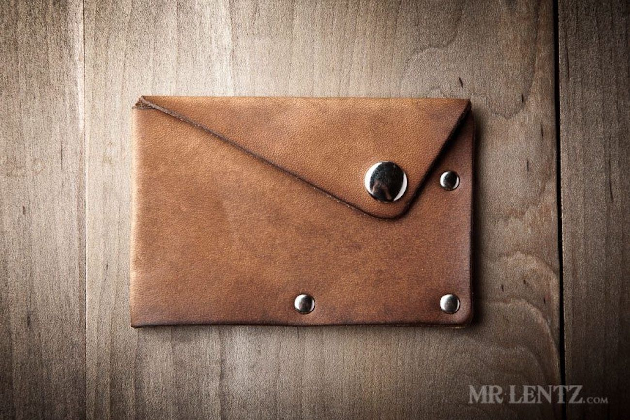 Snap Leather Wallet