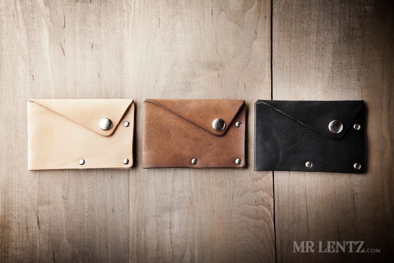 Snap Leather Wallet by Mr. Lentz