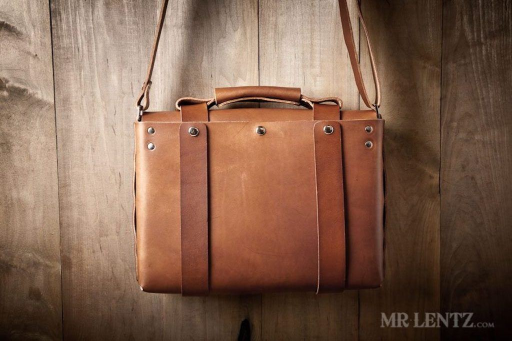 Spacious+Leather+Briefcase+by+Mr.+Lentz