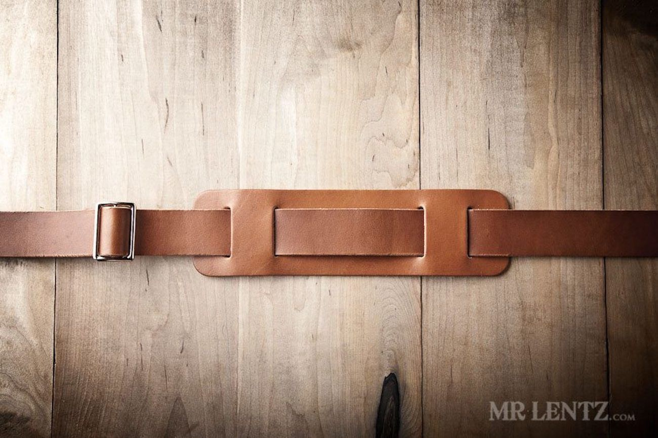Spacious Leather Briefcase by Mr. Lentz