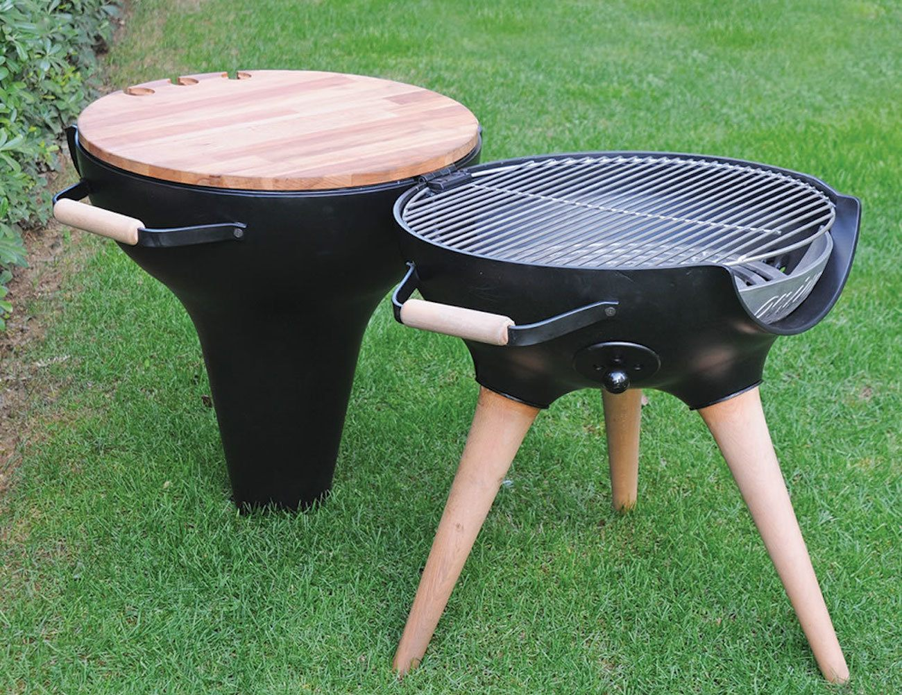 Transforming Hinged Chiminea Grill