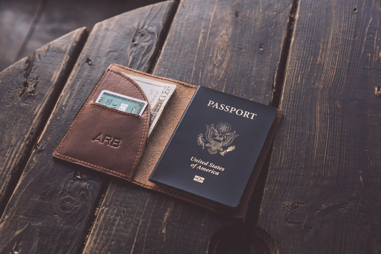 Whipping Post Leather Passport Wallet